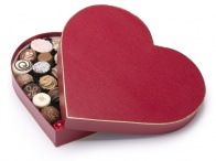 Heart Box (Red) with 36 Assorted Chocolates 520g